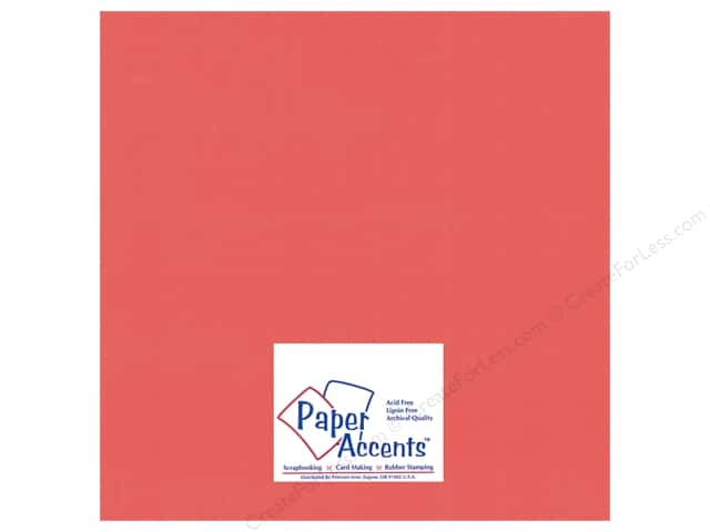 Paper Accents  Cardstock 12 x 12 in. #18007 Smooth Passionate (25 sheets)