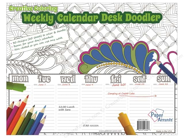Paper Accents Creative Coloring Weekly Desk Doodler 8 1/2 x 11 in.