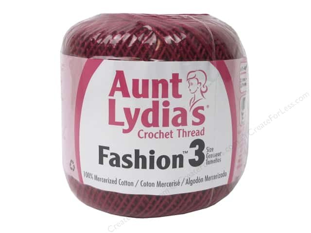 Aunt Lydia's Fashion Crochet Thread Size 3 150 yd. #6 Scarlet