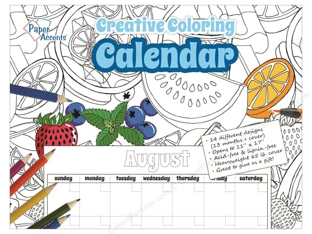 Paper Accents Creative Coloring Monthly Calendar 8 1/2 x 11 in.