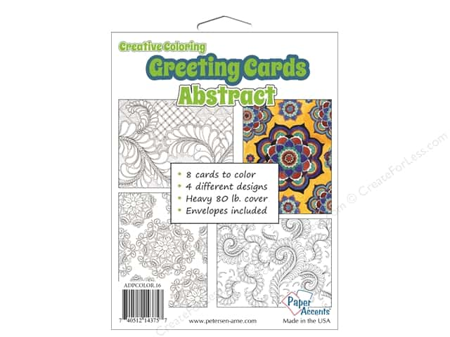 Paper Accents Creative Coloring Card & Envelopes 4 1/4 x 5 1/2 in. 8 pc. Abstract