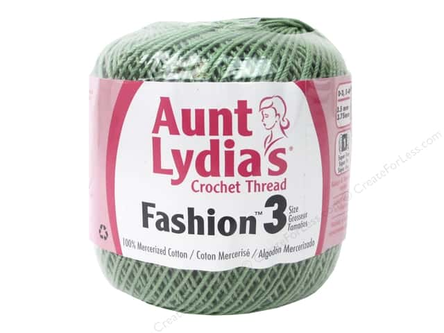 Aunt Lydia's Fashion Crochet Thread Size 3 150 yd. #625 Sage