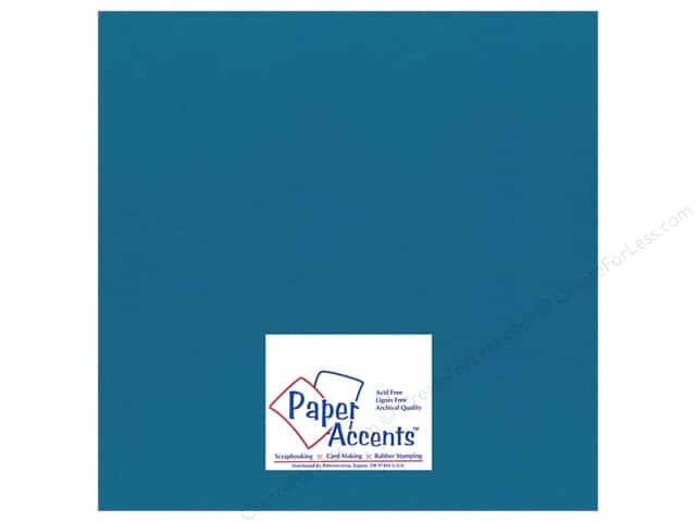 Cardstock 12 x 12 in. #119 Smooth Blue Oasis by Paper Accents (25 sheets)