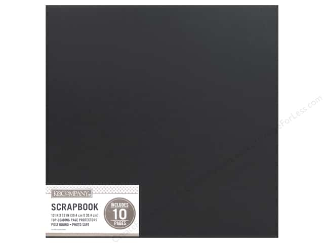 K & Company 12 x 12 in. Scrapbook Album Basic Faux Leather Black