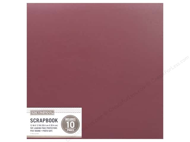 K & Company 12 x 12 in. Scrapbook Album Basic Faux Leather Burgundy