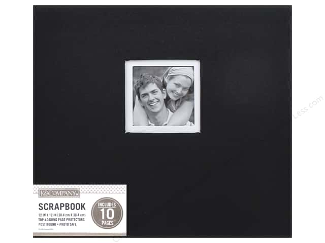 K & Company 12 x 12 in. Scrapbook Window Album Fabric Black