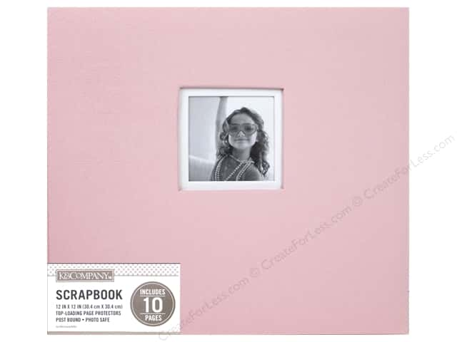 K & Company 12 x 12 in. Scrapbook Window Album Fabric Pink
