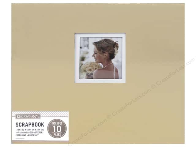 "K&Company Scrapbook Album 12""x 12"" Window Foil Gold"