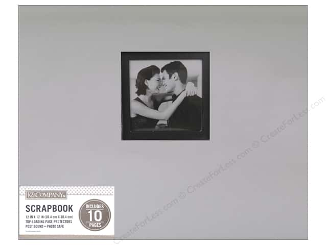 K & Company 12 x 12 in. Scrapbook Window Album Foil Silver