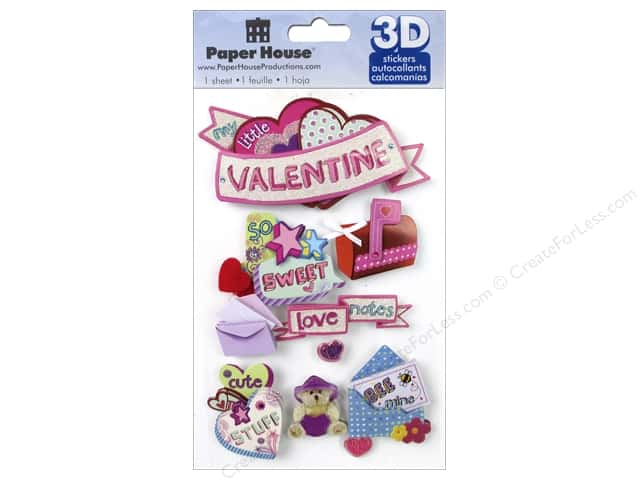 Paper House Sticker 3D Little Valentine