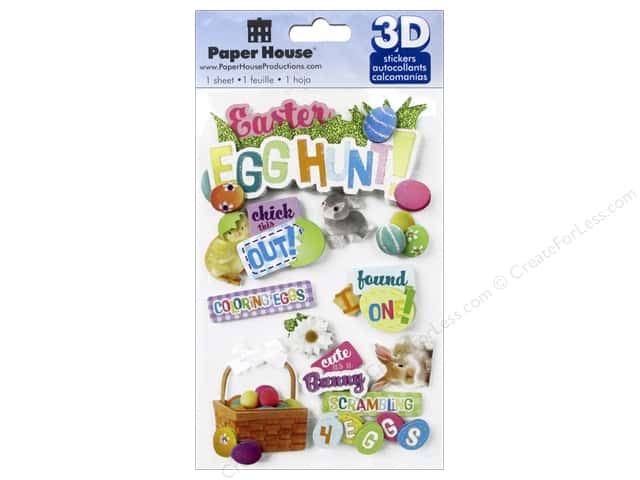 Paper House Sticker 3D Easter Egg Hunt