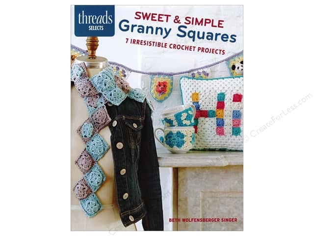 Taunton Press Threads Selects Sweet Granny Squares Book