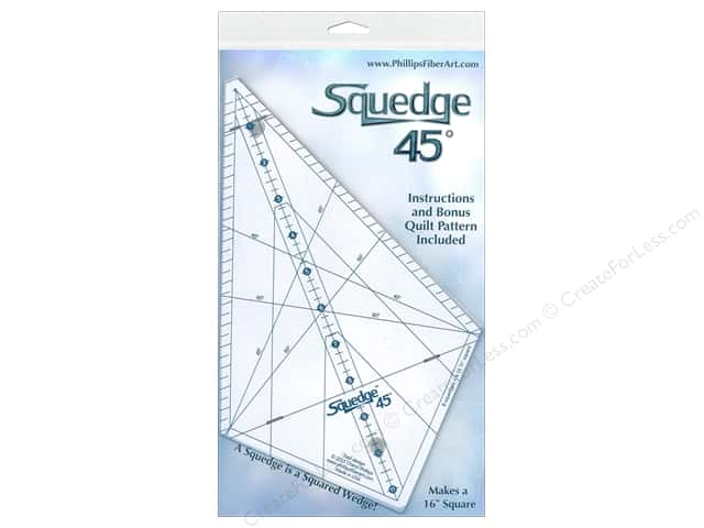 Phillips Fiber Art Ruler Squedge 45 deg.