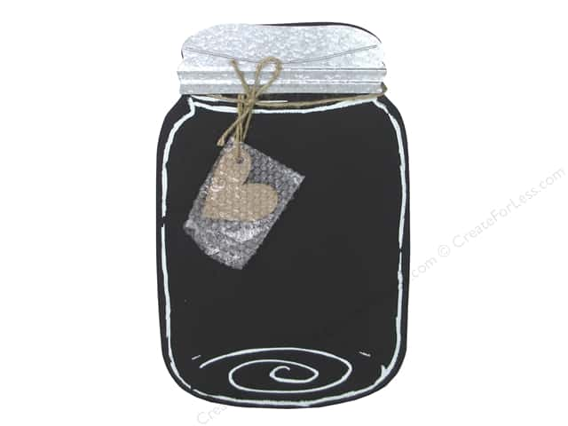Sierra Pacific Crafts Decor Wall Art Mason Jar Black