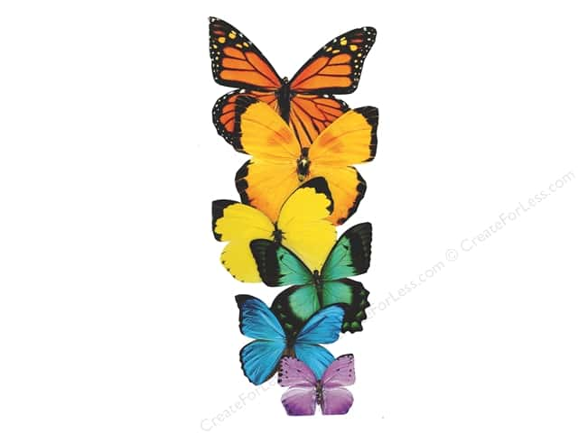 Paper House Die Cut Blank Card Row of Butterflies