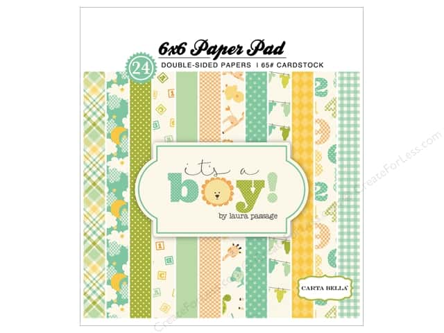 Carta Bella 6 x 6 in. Paper Pad It's A Boy