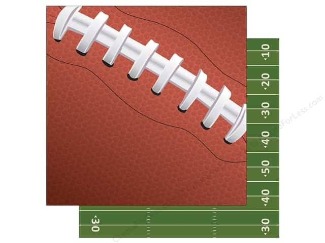 Echo Park 12 x 12 in. Paper Football Collection Football Laces (15 sheets)