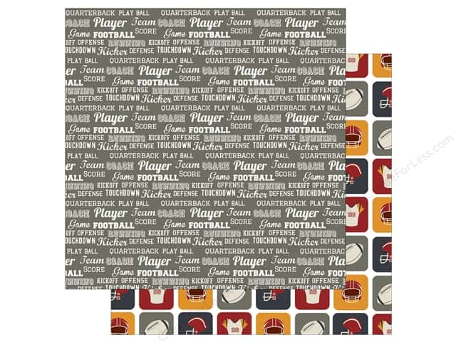 Echo Park 12 x 12 in. Paper Football Collection Football Words (15 sheets)