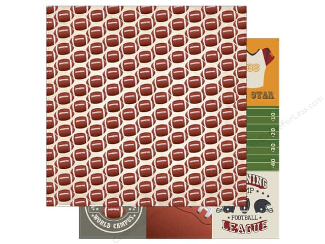Echo Park 12 x 12 in. Paper Football Collection Small Footballs (15 sheets)