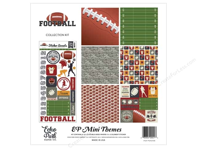 Echo Park 12 x 12 in. Collection Kit Football