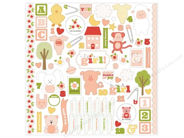 Carta Bella Stickers It's A Girl Element (15 sets)