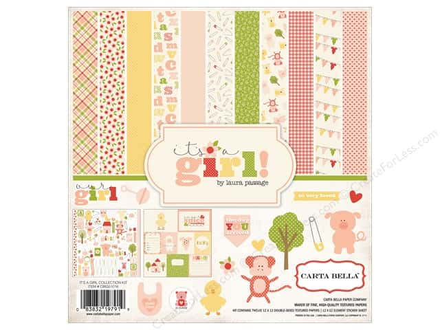 Carta Bella 12 x 12 in. Collection Kit It's A Girl