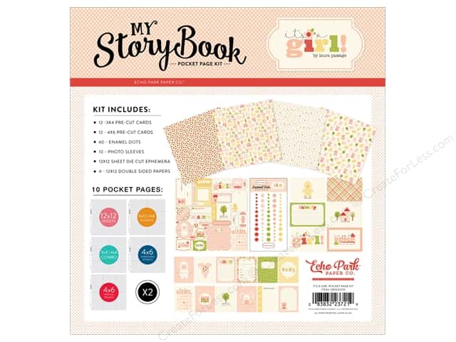 "Carta Bella Collection It's A Girl Pocket Page Kit 12""x 12"""