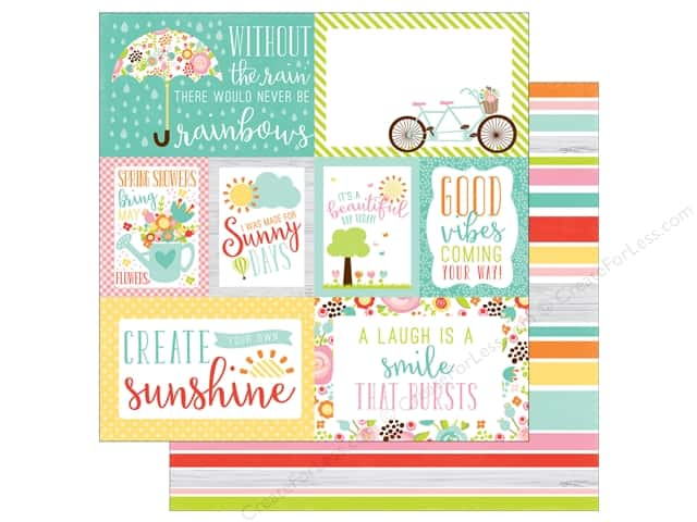 Echo Park 12 x 12 in. Paper Spring Collection Journaling Cards (25 sheets)
