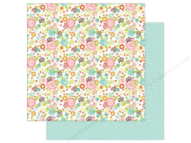 Echo Park 12 x 12 in. Paper Spring Collection Fancy Floral (25 sheets)