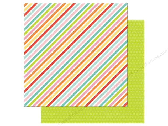 Echo Park 12 x 12 in. Paper Spring Collection Sparkling Stripe (25 sheets)