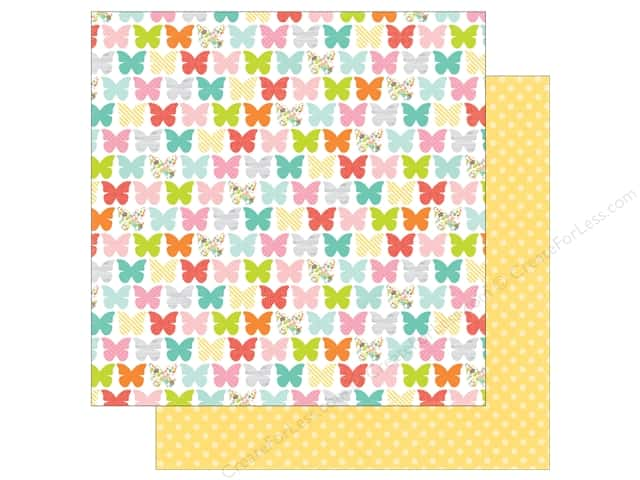 Echo Park 12 x 12 in. Paper Spring Collection Beaming Butterflies (25 sheets)