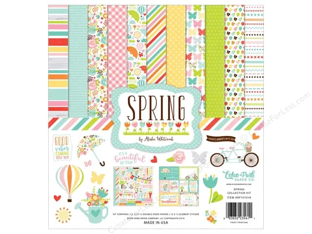 Echo Park 12 x 12 in. Collection Kit Spring