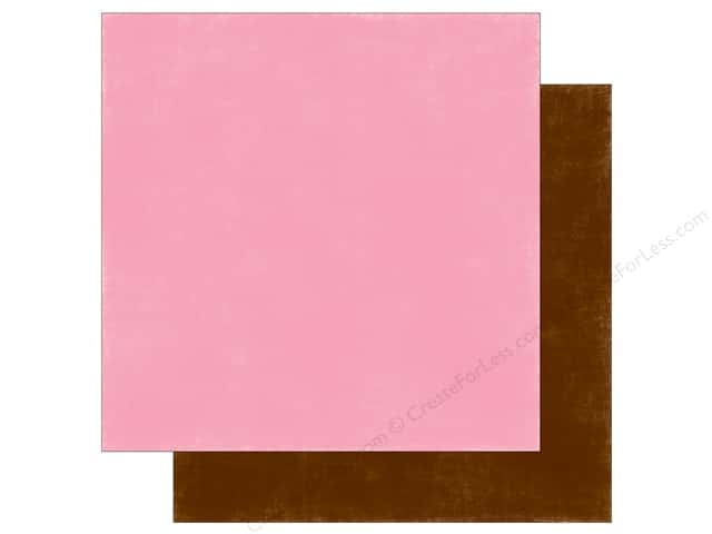 Echo Park 12 x 12 in. Paper Spring Collection Distress Pink/Brown (25 sheets)