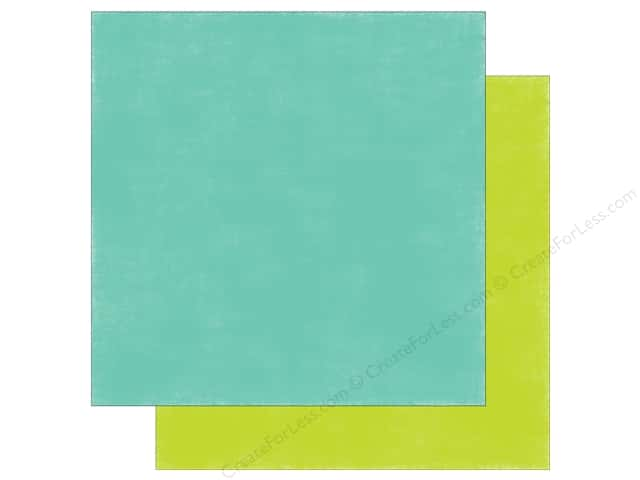 Echo Park 12 x 12 in. Paper Spring Distress Blue/Green (25 sheets)
