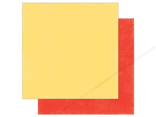 Echo Park 12 x 12 in. Paper Spring Collection Distress Yellow/Red (25 sheets)