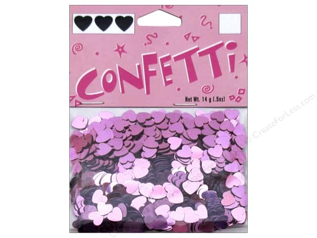 Darice Confetti Pack 6 mm Hearts .5 oz. Pink