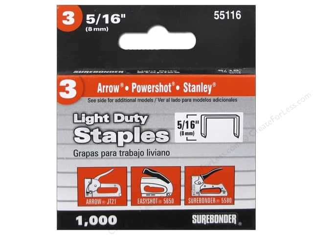 "Surebonder Staples Light Duty #3 5/16"" 1000pc"