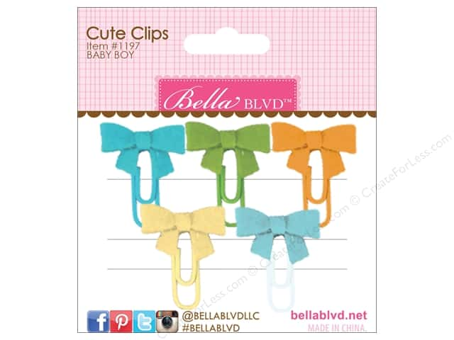 Bella Blvd Cute Clips Mini Bows 5 pc. Baby Boy