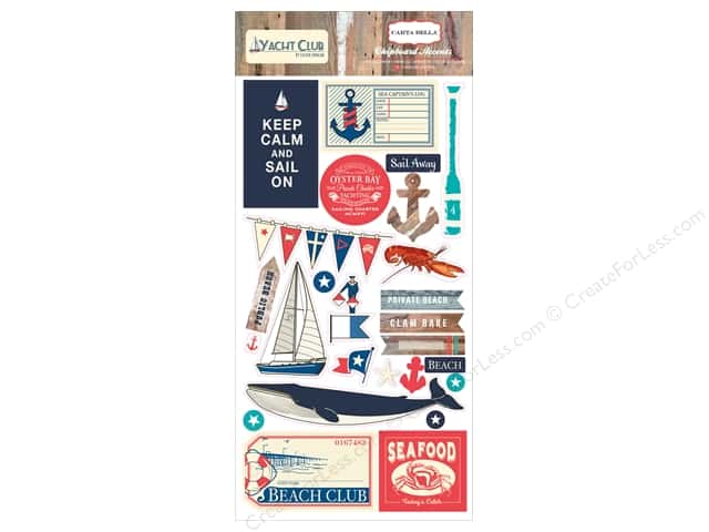 Carta Bella Chipboard Accents Yacht Club
