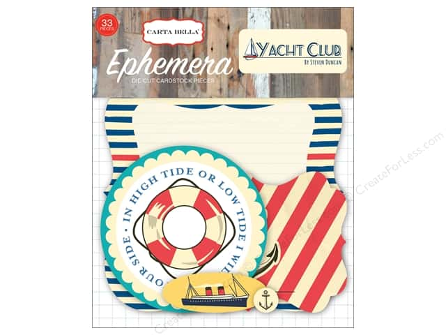 Carta Bella Ephemera Yacht Club