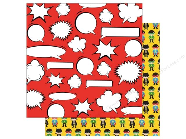 Echo Park 12 x 12 in. Paper Superhero Thought Bubble (15 sheets)