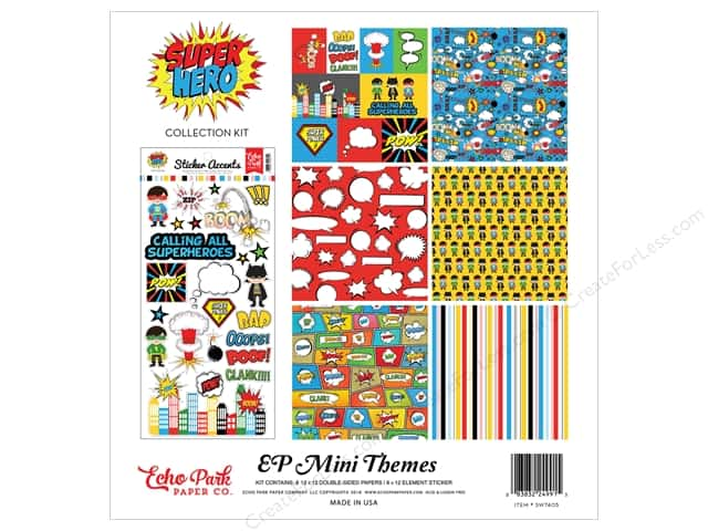 Echo Park 12 x 12 in. Collection Kit Superhero