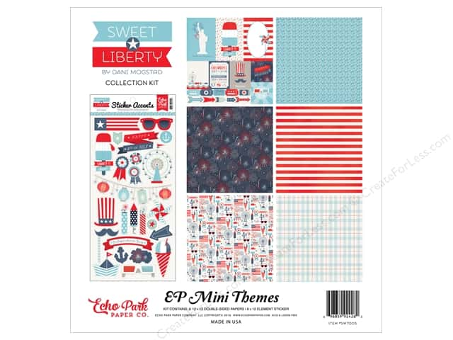 Echo Park 12 x 12 in. Collection Kit Sweet Liberty