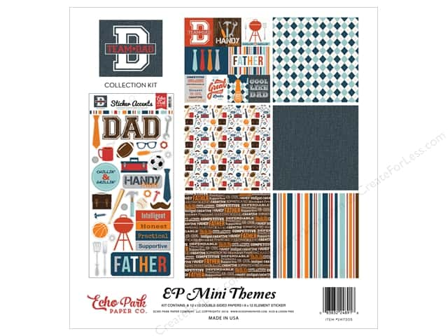 Echo Park 12 x 12 in. Collection Kit Team Dad