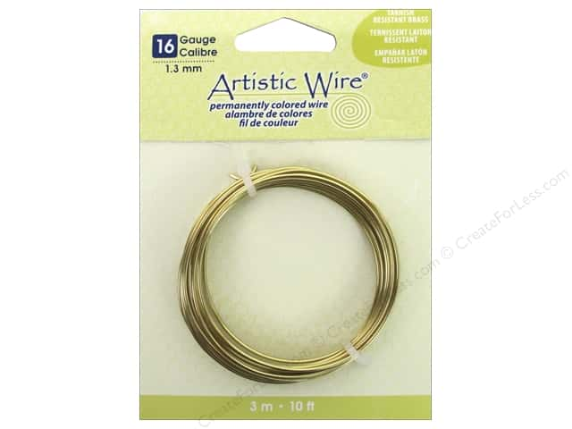 Artistic Wire 16 ga. Wire 10 ft. Non Tarnish Brass
