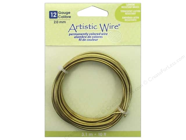 Artistic Wire 12 ga. Wire 10 ft. Non Tarnish Brass