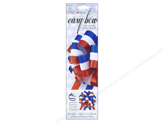 Morex Easy Bow 8 in. Red White Blue