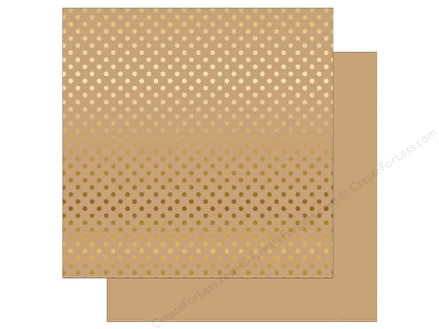 Echo Park 12 x 12 in. Paper Dots & Stripes Gold Foil Tan (15 sheets)
