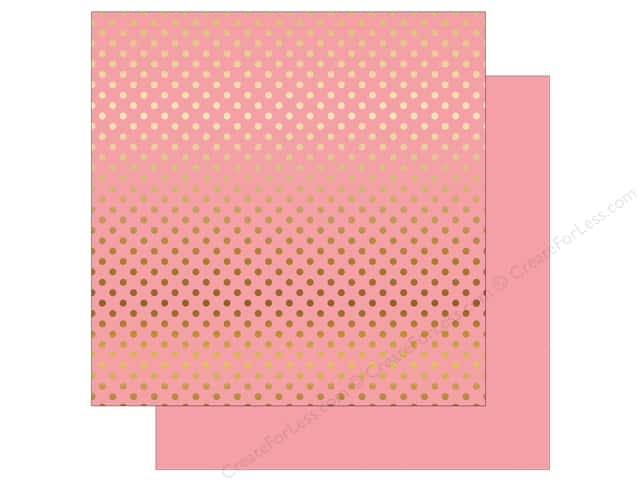 Echo Park 12 x 12 in. Paper Dots & Stripes Gold Foil Pink (15 sheets)