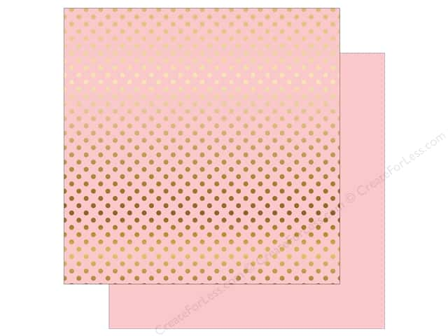 Echo Park 12 x 12 in. Paper Dots & Stripes Gold Foil Light Pink (15 sheets)